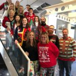 BPC team in ugly sweaters.